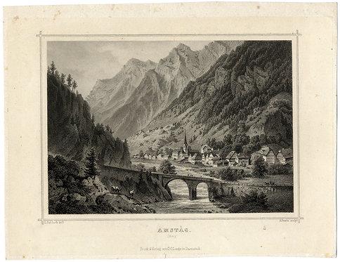 Amsteg Stich um 1850