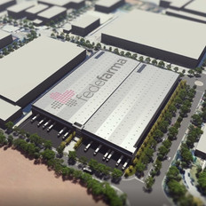 Preliminar drafts of a logistics warehouse for Fedefarma in Palau Solità i Plegamans