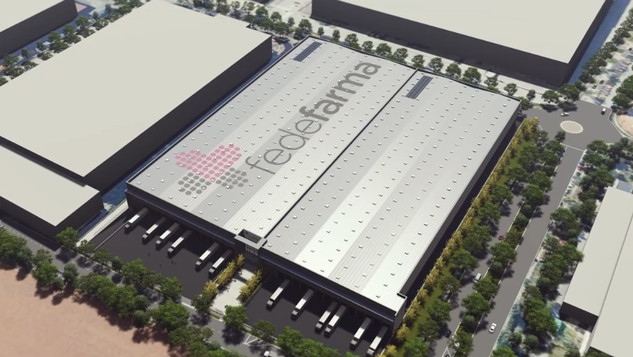 Preliminary drafts of a logistic warehouse for Fedefarma