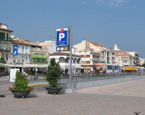 Underground parking lot from the quay of Cambrils port