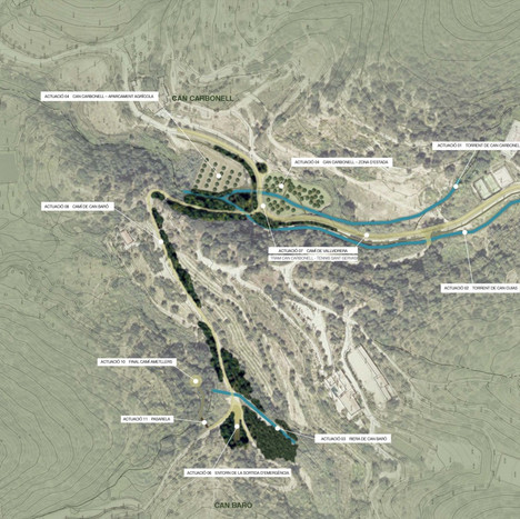 Restoration of the surroundings of Can Baró and Can Biosca