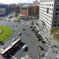 Modification of the crossing between Plaça Espanya and Creu Coberta street