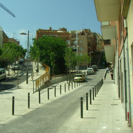 Urbanization of Mare de Déu del Coll street in Barcelona