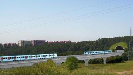 Railway line extension in Castellar del Vallès