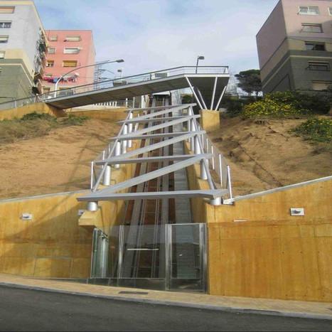 Inclined lift to Can Franquesa, Santa Coloma de Gramanet