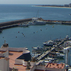 Fishing port of Blanes enlargement