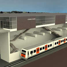 Conditioning of the new railway station in Cornellà