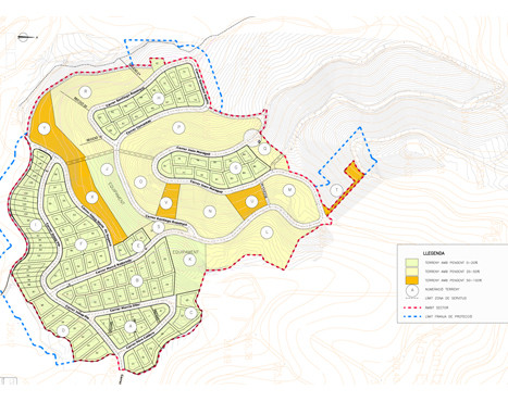 Urban development actions in Ca'l Enrich de Calafell's sector in Castellgalí