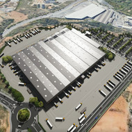 Preliminar drafts of a logistics warehouse for Amazon in Barberà del Vallès