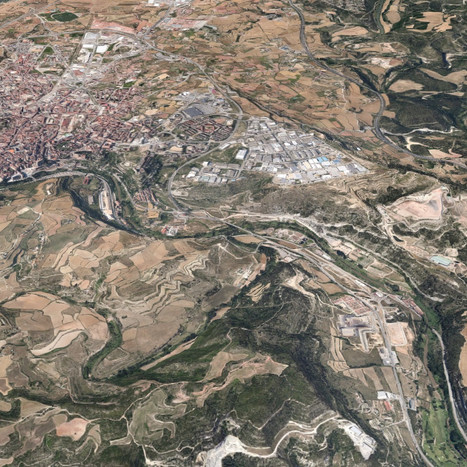 Bifurcation of the C-55 highway near Manresa