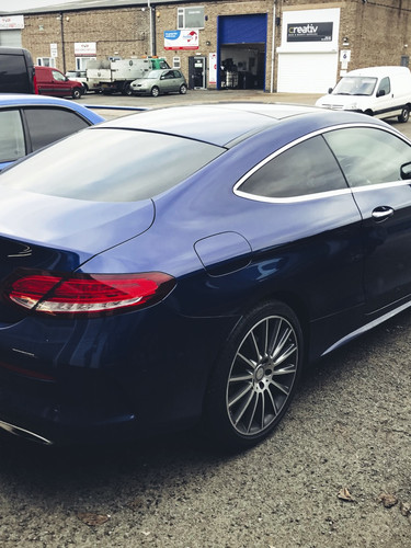 mercedes window tint