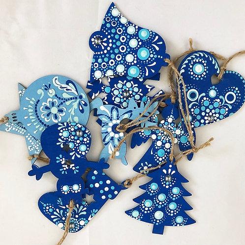 Christmas ornaments blue