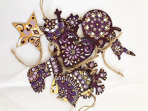 Christmas ornaments purple