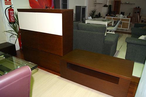 Mueble Estantería nogal