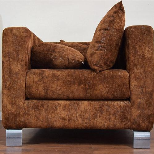 Cabezal y sillón marrón