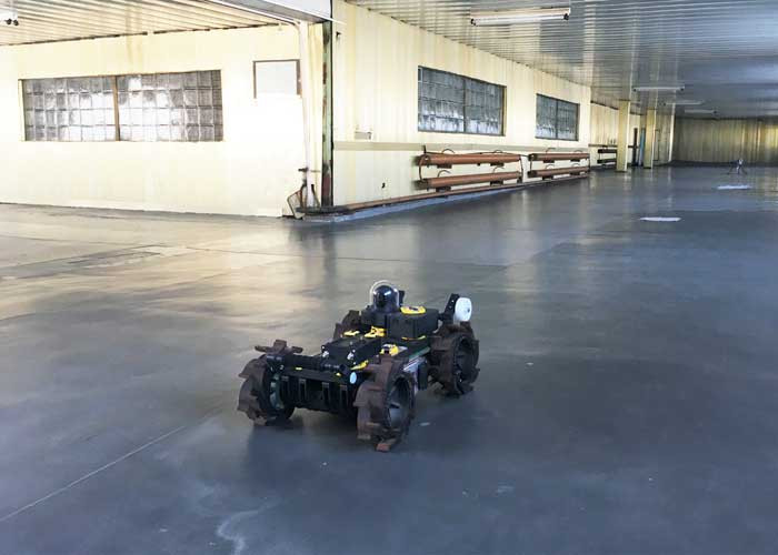Ross Robotics modular robot conducting inspection trials at Chernobyl