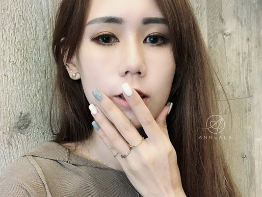 Annlala Beauty X Candi凱娣(@canditseng) 手部光療/霧面/霧霾藍/水滴/優雅/氣質/保養/板橋/永和