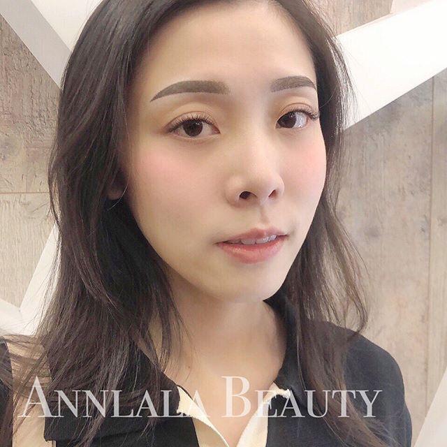 🌟明星裸霧眉🌟 謝謝美女客人分享美照❤️ 剛補完色的眉毛、剛接好睫毛 是不是