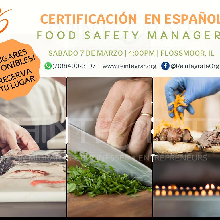 Food Safety Manager Certification en Español