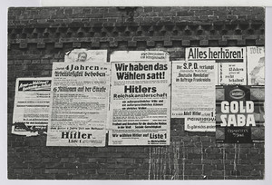 """13.1 """"Wir haben das Wählen satt, wählt Hitler!"""""""