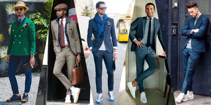 to Wear Men's Formal Clothes with Sneakers