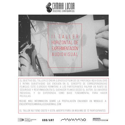 II TALLER HORIZONTA DE EXPERIMENTACIÓN AUDIOVISUAL