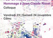 Pour unmonde sonorevirtuel Hommage à Jean-Claude Risset