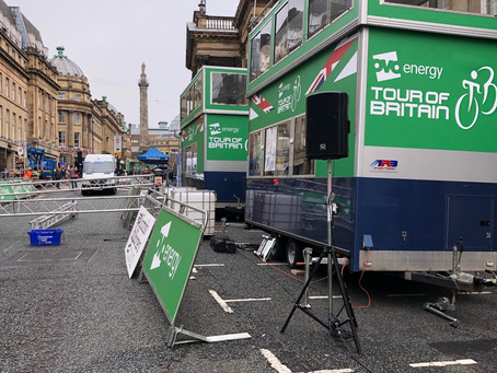 Stage 3 Tour of Britain - dramatic uphill finish