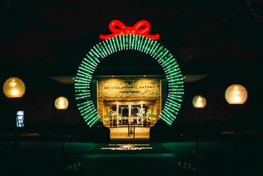 Wreath by Mandylights. Lightscape 2019.