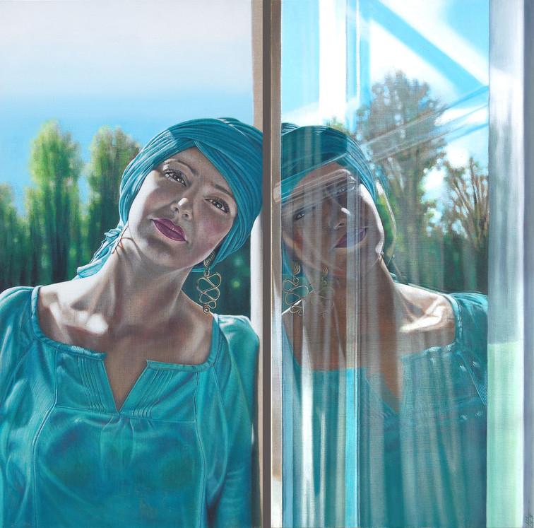 """""""Doux reflet"""" (Dyptique: 2x 1mx50cm) 1mx1m"""