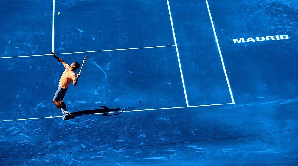 Blue clay tennis