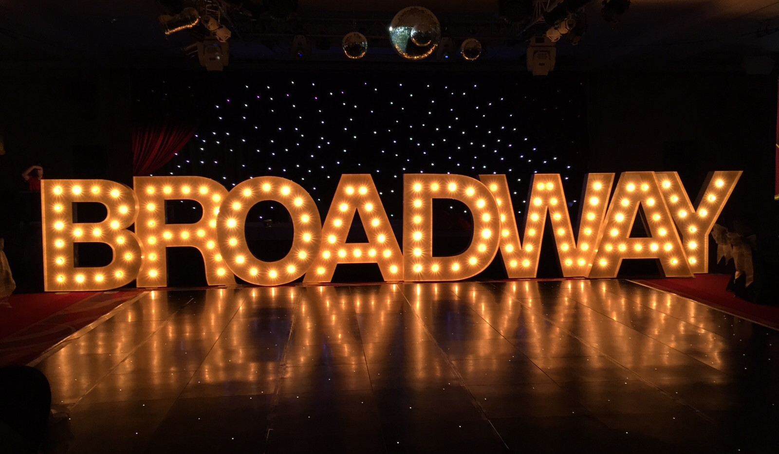 5ft Illuminated light up BROADWAY letters