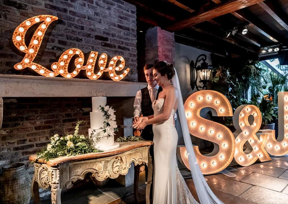 Little Love Sign and 5ft Light up Letters