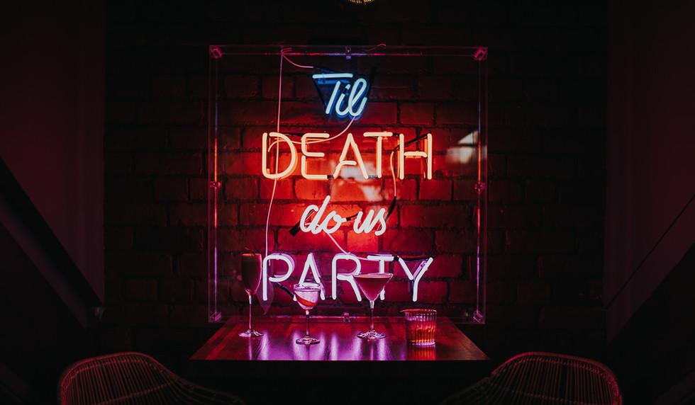 Til Death Do Us Party neon