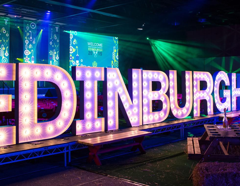 5ft Illuminated EDINBURGH 2015 lights