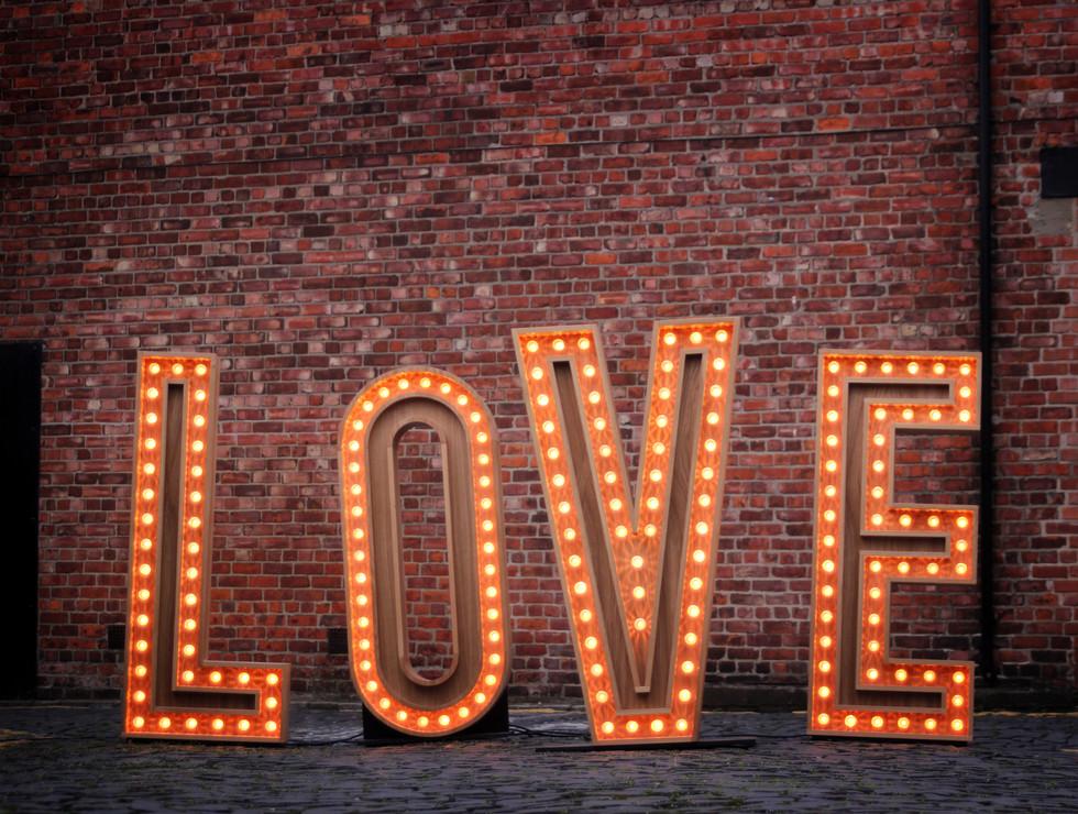 5ft Wooden LOVE
