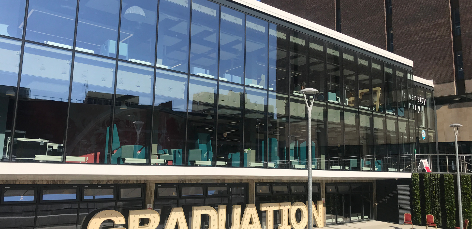 5ft GRADUATION letters at Northumbria University