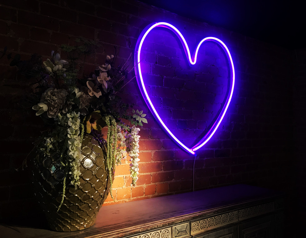 Purple Neon Heart - Le Petit Chateau