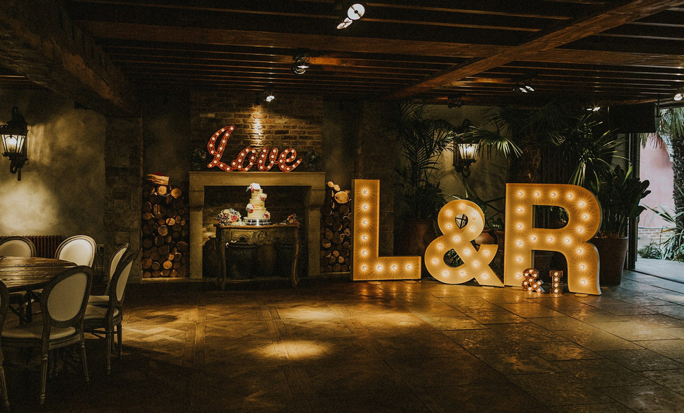Light up Initials and Little Love sign