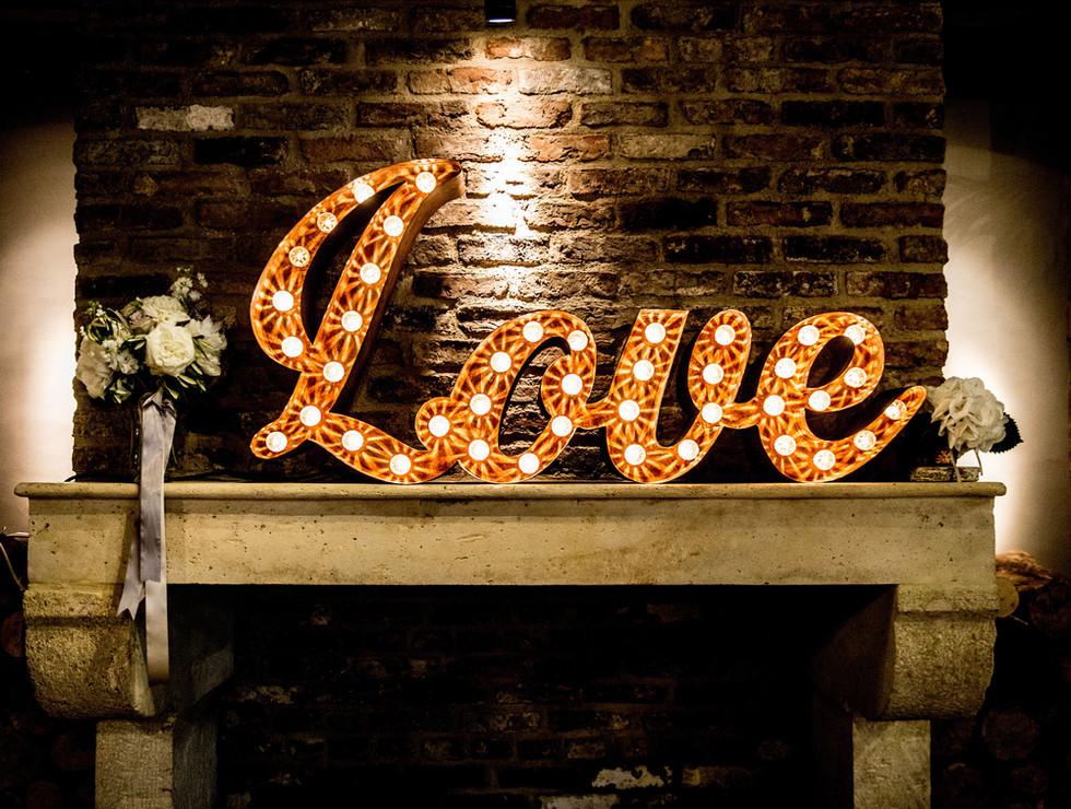 Rusty Light up Little Love Sign