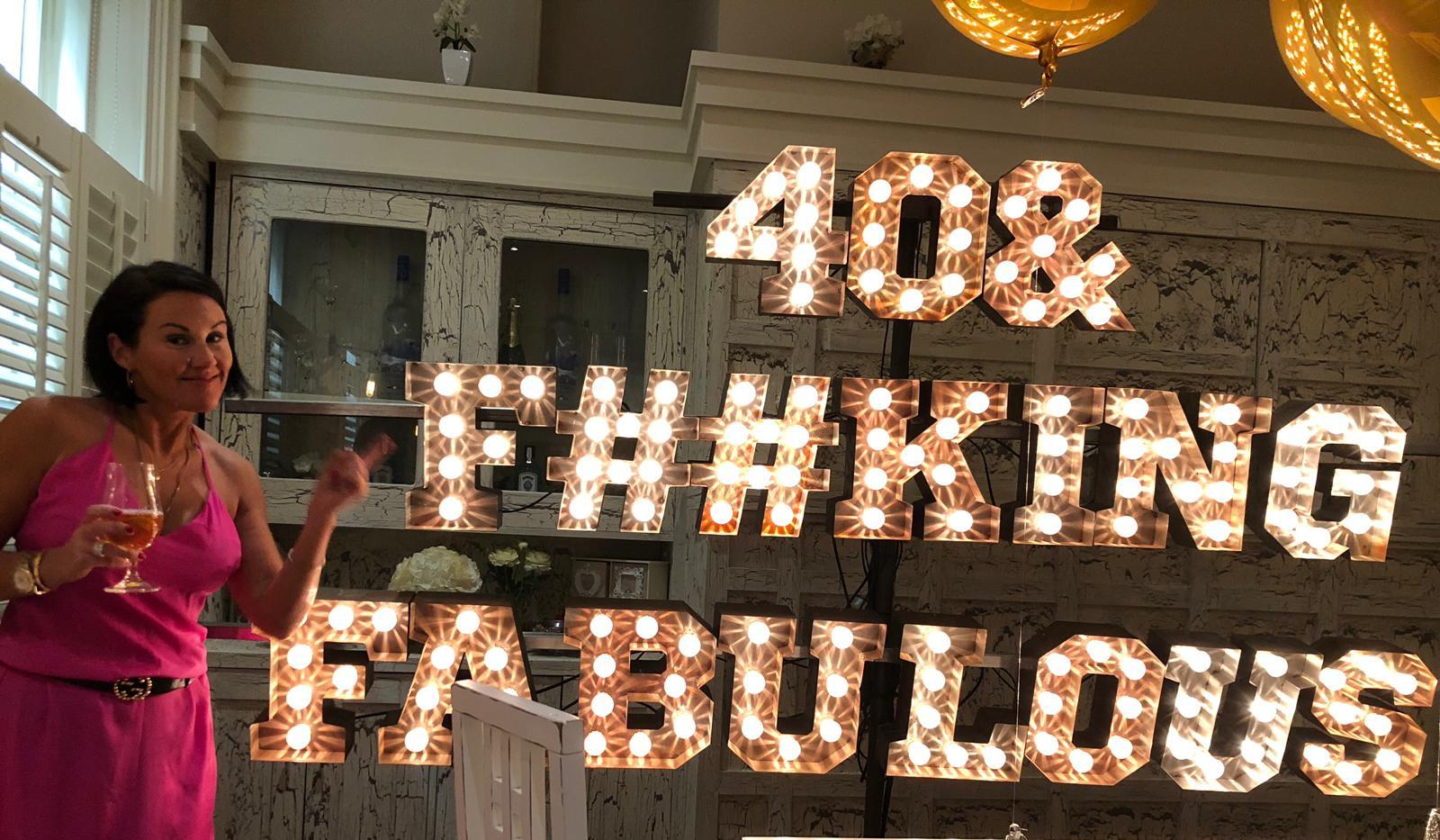 40th Birthday Lights