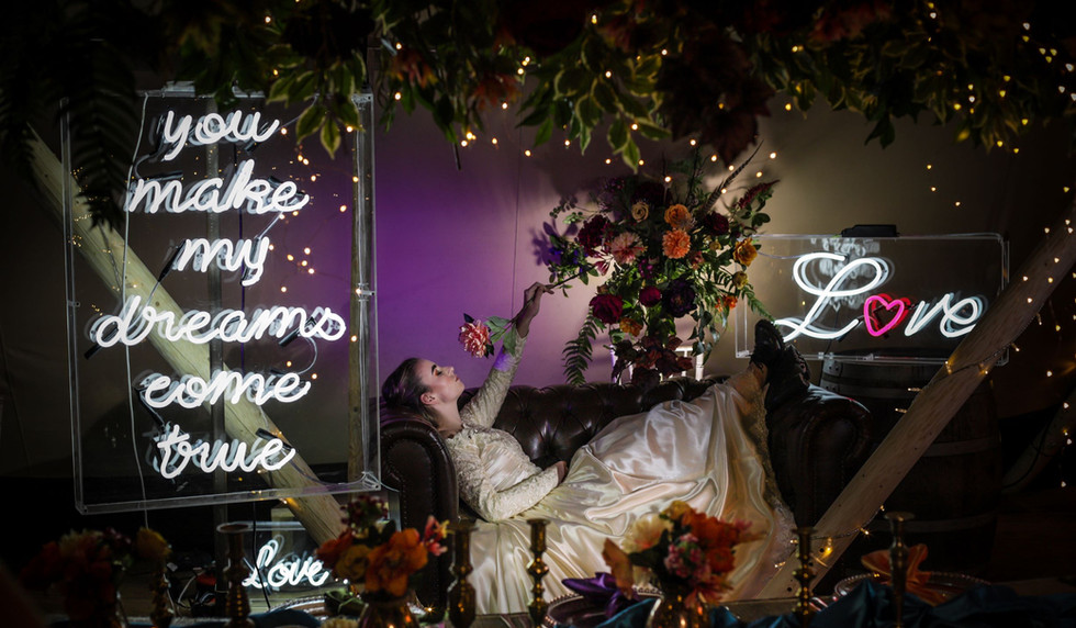 You make my dreams come true neon sign and Love neon sign