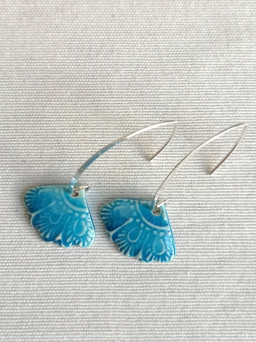 Boucle d oreille turquoise