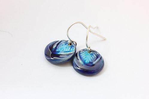 """Boucles d'oreilles turquoises collection """"amérindien"""""""