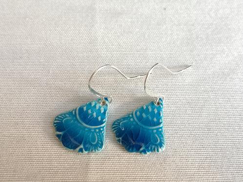 Boucles d oreilles turquoises