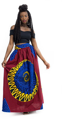 Nina Multi-color Ankara Maxi skirt