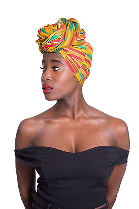 African Print Head Wrap - MULTI-G
