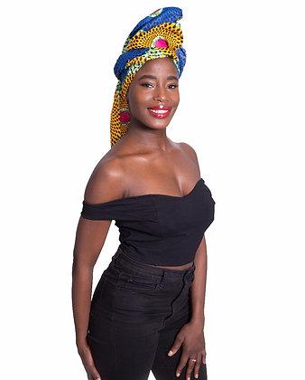 African Print Head Wrap - BYR