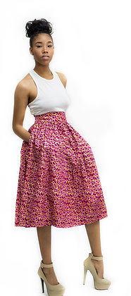 Ovota Ankara Midi Skirt