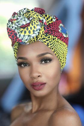 African Print Head Wrap - RYB